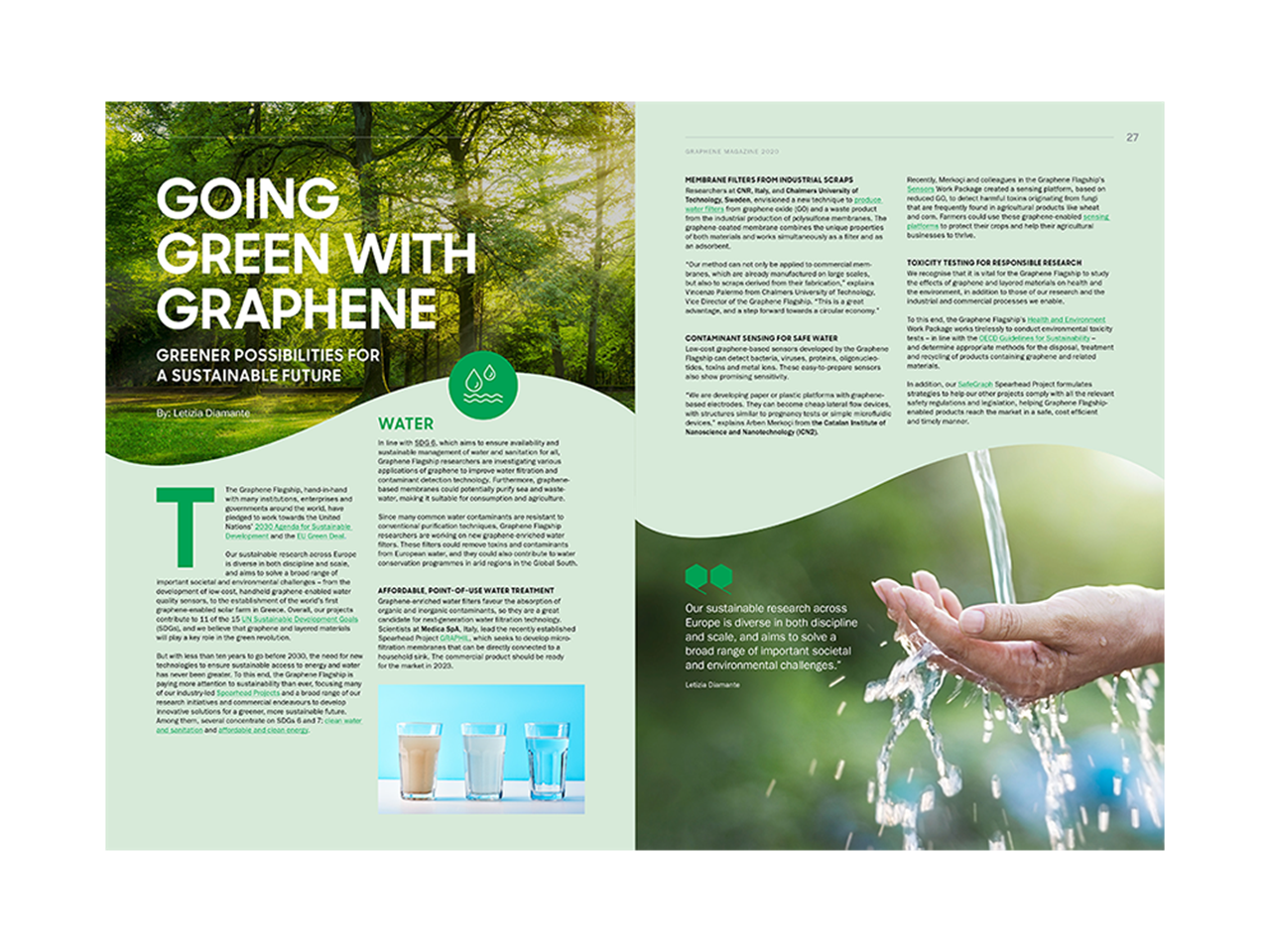 Magazine article image: Going green with graphene