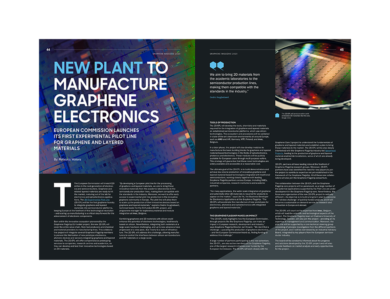 Magazine article image: New plant to manufacture graphene electronics