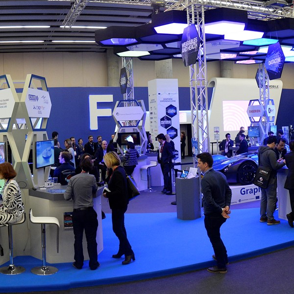 Graphene Flagship booth at Mobile World Congress