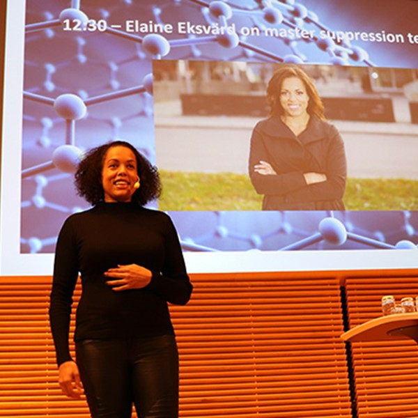 Elaine Eksvärd presented methods to master suppression techniques at the Graphene Flagship's Women in Graphene and Science workshop.