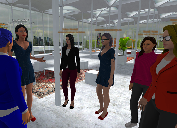 Women in Graphene 3D virtual world image.
