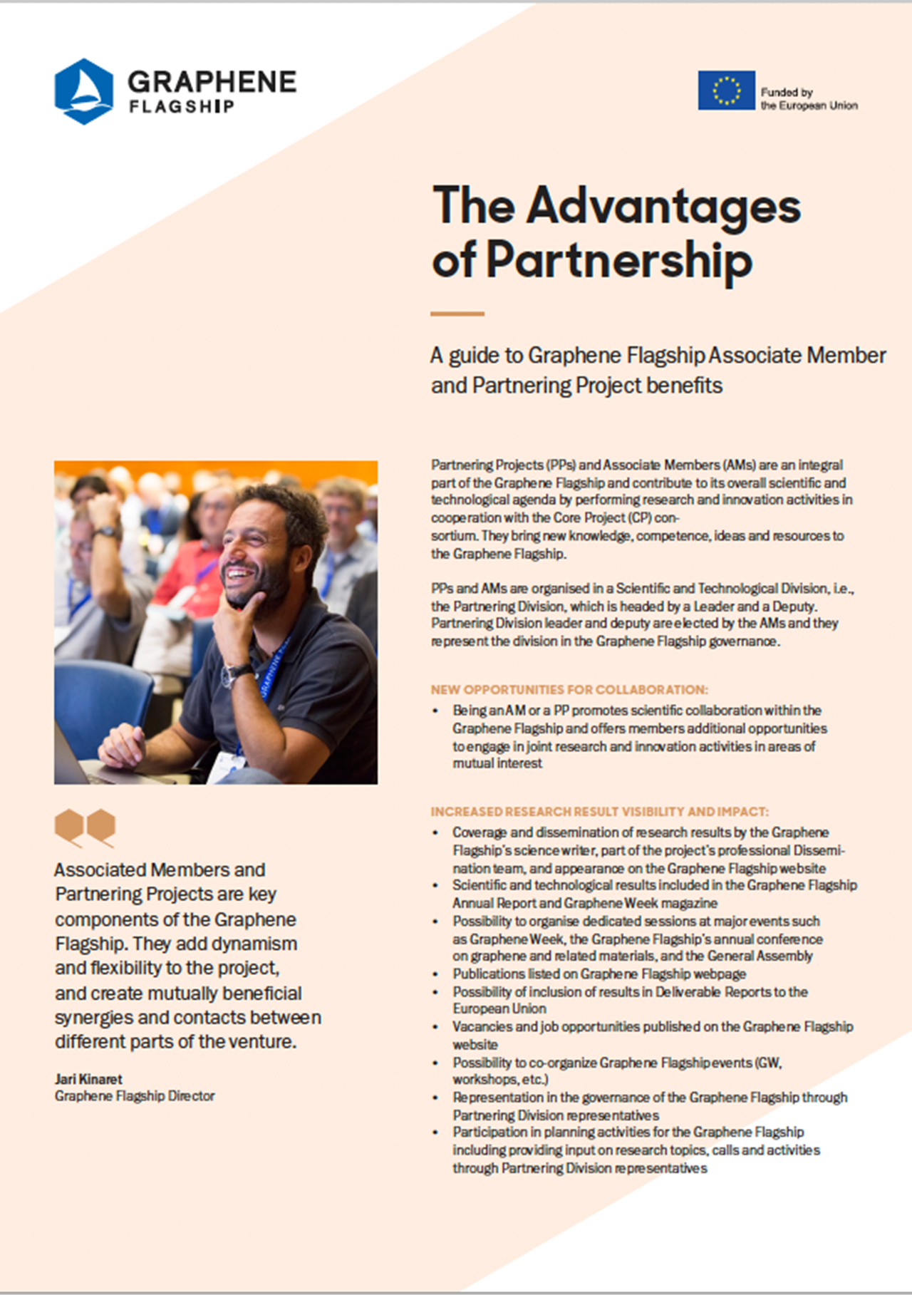 The Advantages of Partnership leaflet cover page.