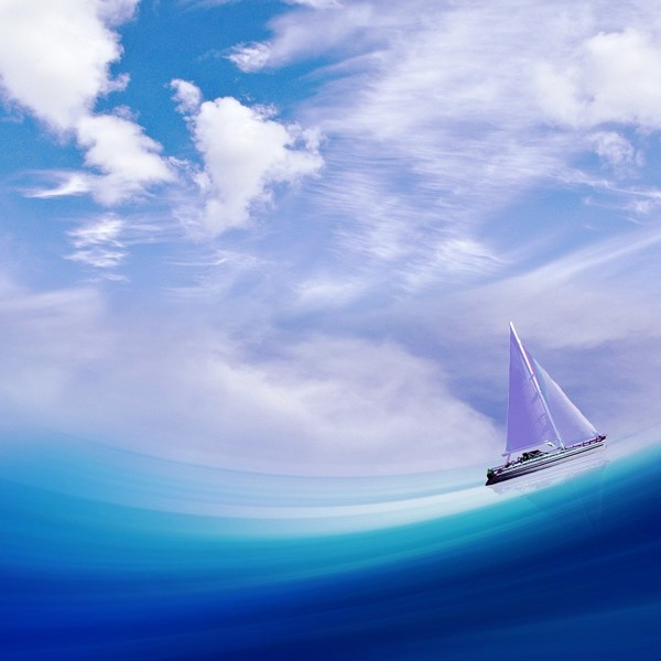 Sailing boat illustration.