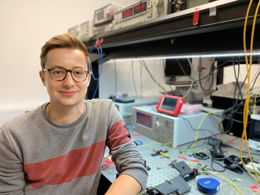 Jakob Ewald Muench works at the heart of the Graphene Flagship, researching new components for integrated photonics for datacom and telecom systems from the Cambridge Graphene Centre.