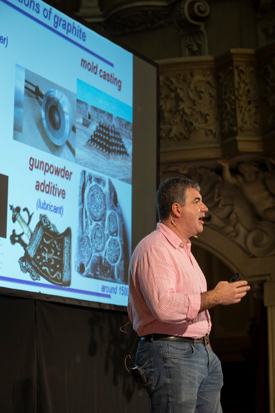 Konstantin Novoselov presents at the Graphene Flagship's Marketplace event