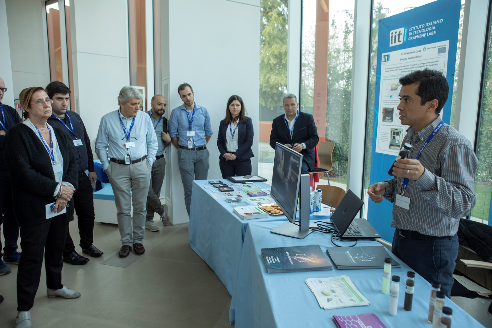 An exhibition of graphene products and prototypes was held at the Graphene Flagship's Tetra Pak Marketplace event