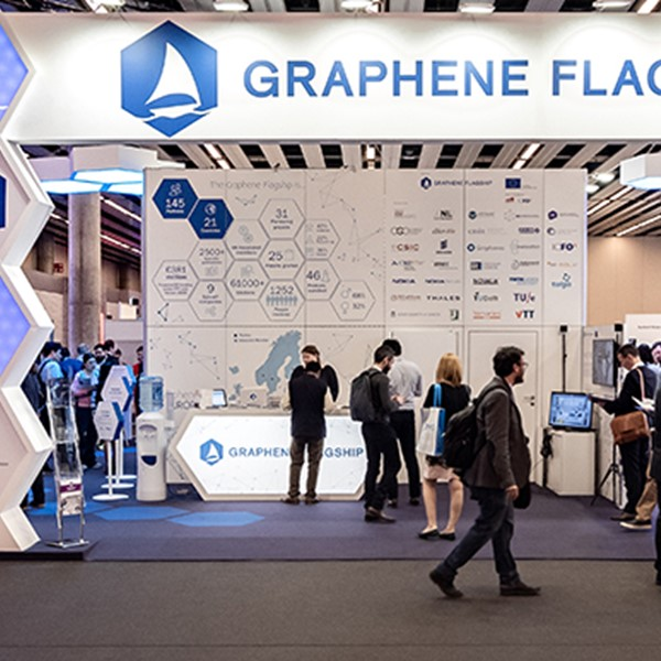 Graphene Flagship booth at MWC in Barcelona