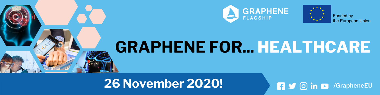 Graphene for healthcare banner.