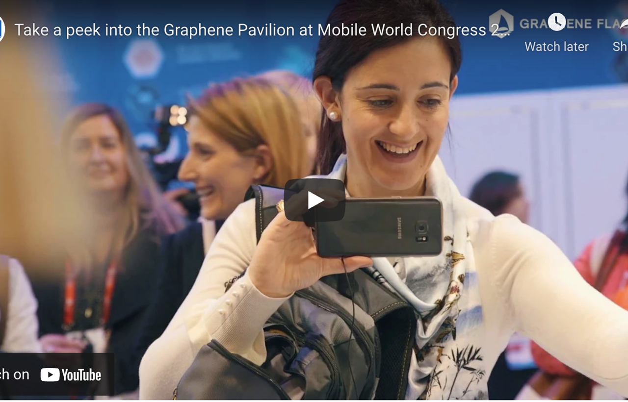 Video highlighting the Graphene Pavilion at Mobile World Congress 2018