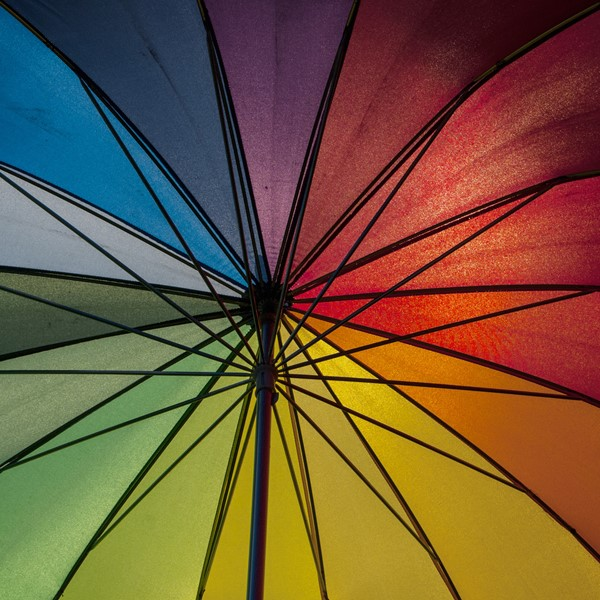 colorful umbrella representing diversity